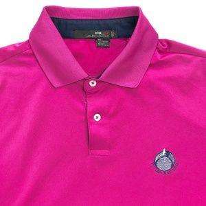 RLX Ralph Lauren Mens Golf Button Polo Shirt Large